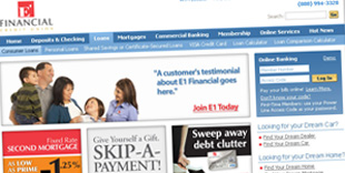 Credit Union Website Design | Fusionbox Work | E1 FCU