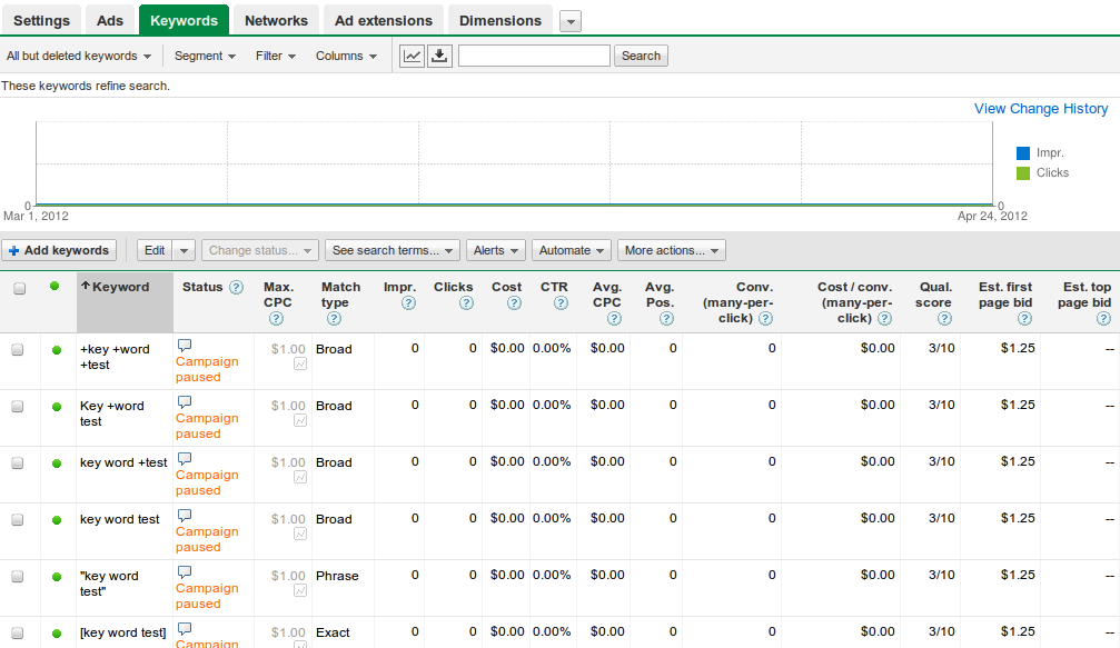adwords match types examples in an account